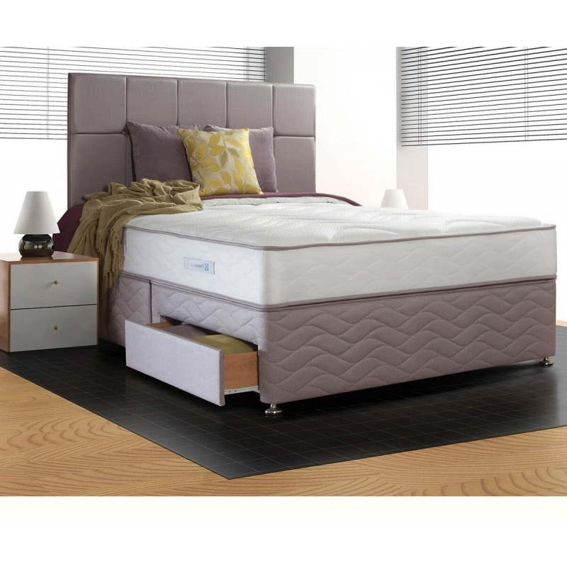 Sealy memory support divan set for Divan and mattress set