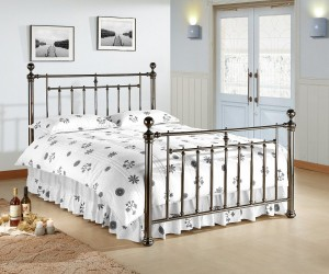 Alexander Metal Bed Frame black nickel