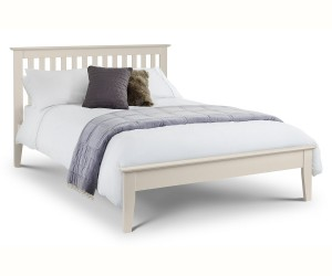 Salerno Stone White Bed Frane