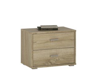 Auckland 2 Drawer Low Bedside