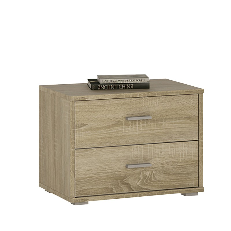 Auckland 2 drawer bedside chest