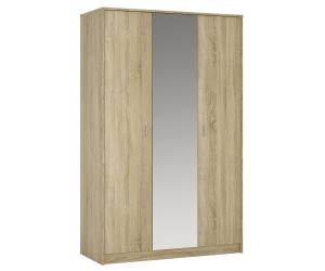 Auckland 3 Door Mirrored Wardrobe