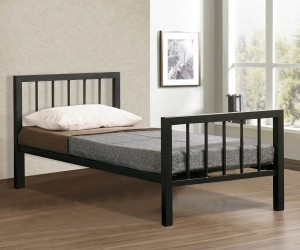 Metro Black Metal Bed Frame