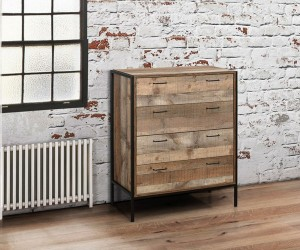 Rustic Urban 4 Drawer Chest