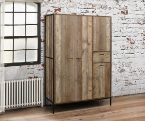 Rustic Urban 4 Door Wardrobe