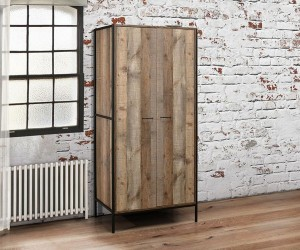 Rustic Urban 2 Door Wardrobe
