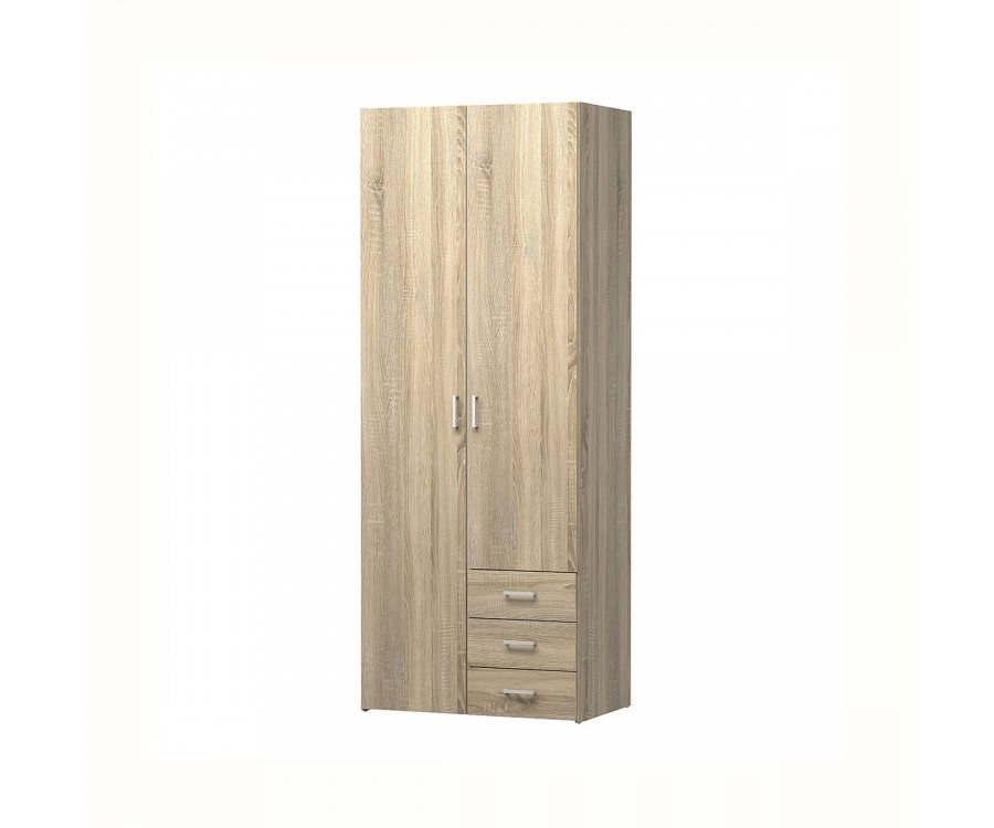 Odense 2 Door 3 Drawer Robe in Oak