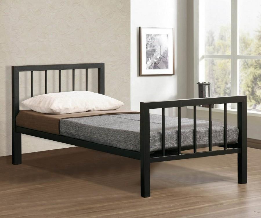 Metro Black Metal Bed Frame