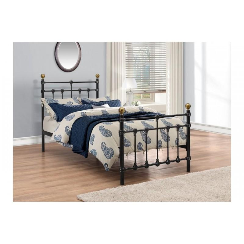 Traditional Black Metal Bed Frame