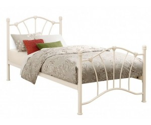 Single Cream Hearts Bed Frame