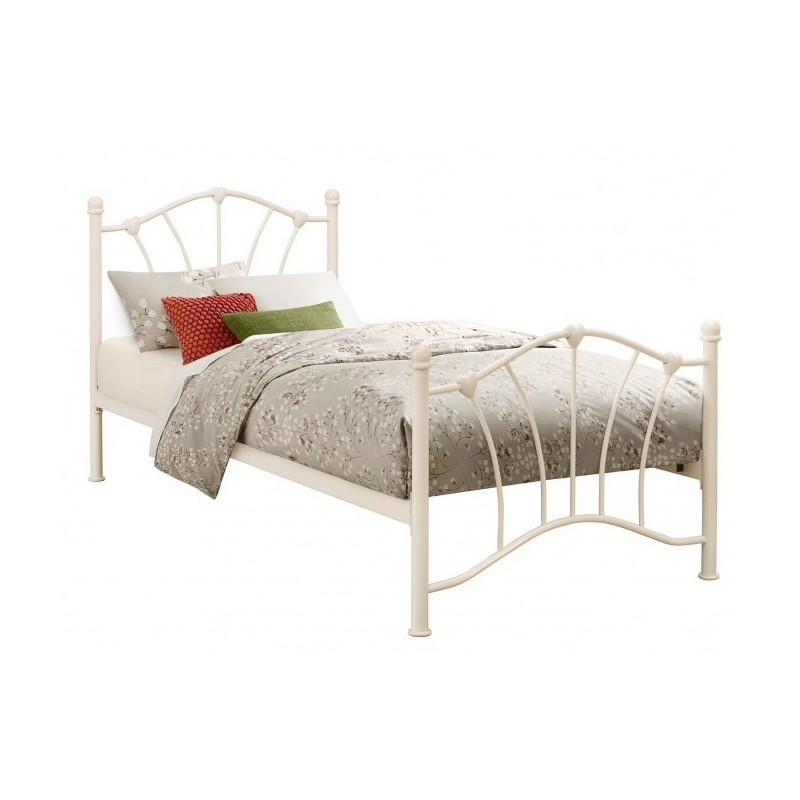 Cream Hearts Bed Frame