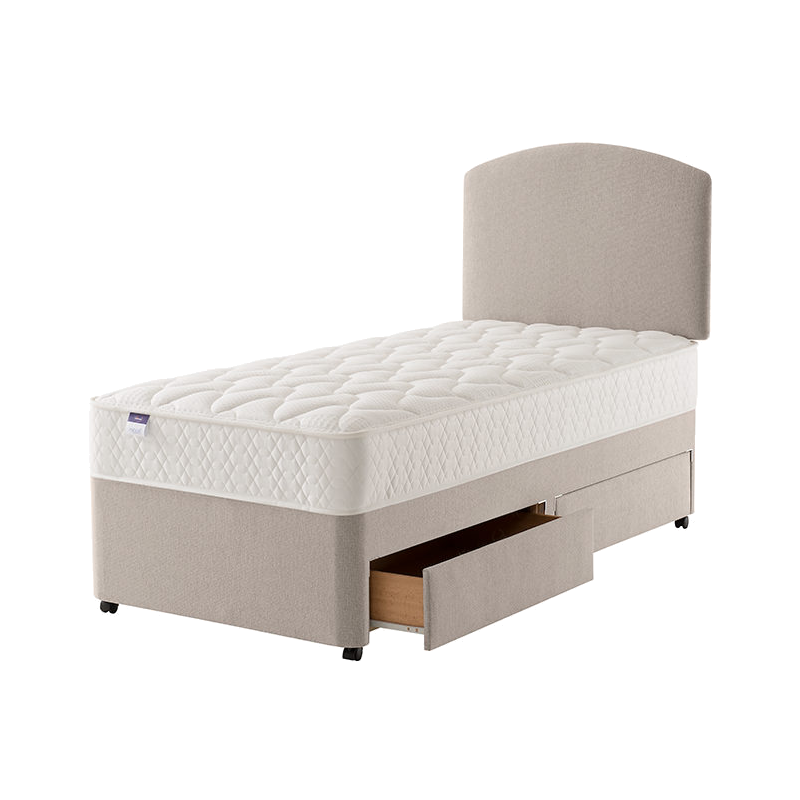 Silentnight miracoil solo divan set for Silentnight divan