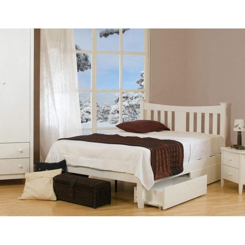 Roulette White Bed Frane Scarborough Bed Warehouse