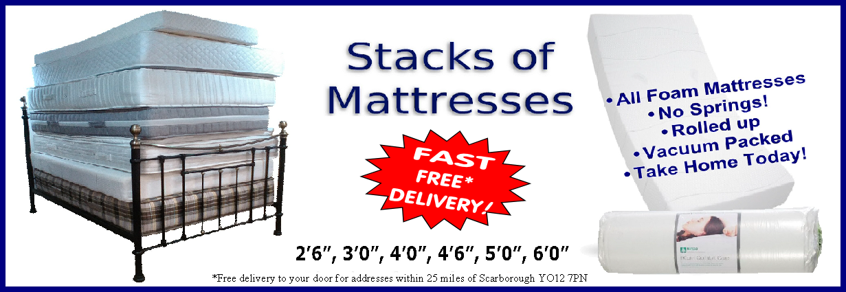stacks of mattresses for fast free delivery